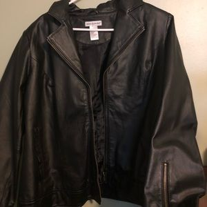 Jackets & Blazers - Leather coat
